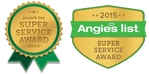 2014 & 2015 Angies List Super Service Award